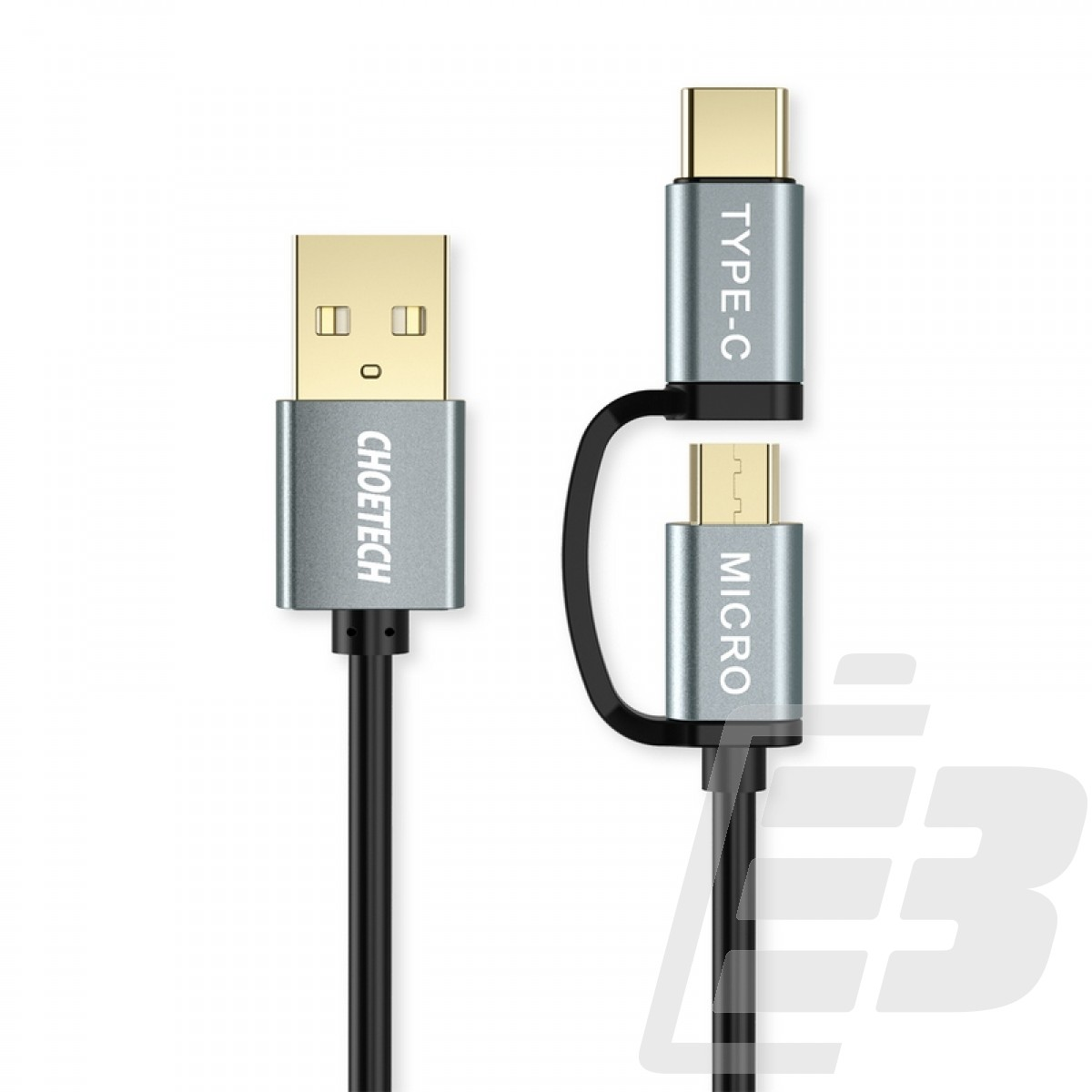 Choetech 2 in 1 USB-C and Micro USB-Cable 1