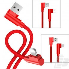 Choetech Lightning Nylon Braided Cable Red 1.2m_1