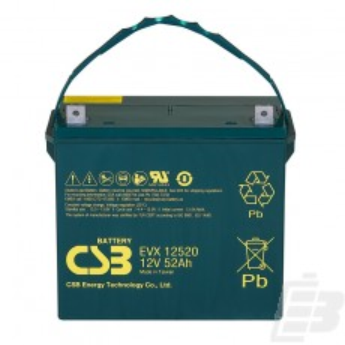 CSB Lead Acid Battery EVX12520 12v 52ah 1