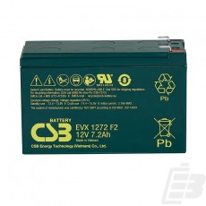 CSB Lead Acid Battery EVX1272 12v 7.2ah 1