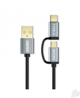 Choetech 2 in 1 USB-C and Micro USB-Cable