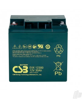 CSB Lead Acid Battery EVX12300 12V 30Ah