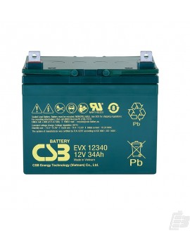 CSB Lead Acid Battery EVX12340 12v 34ah