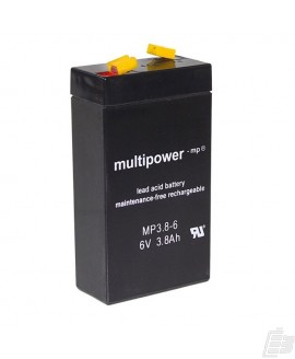 Multipower Lead Acid Battery 6V 3,8Ah