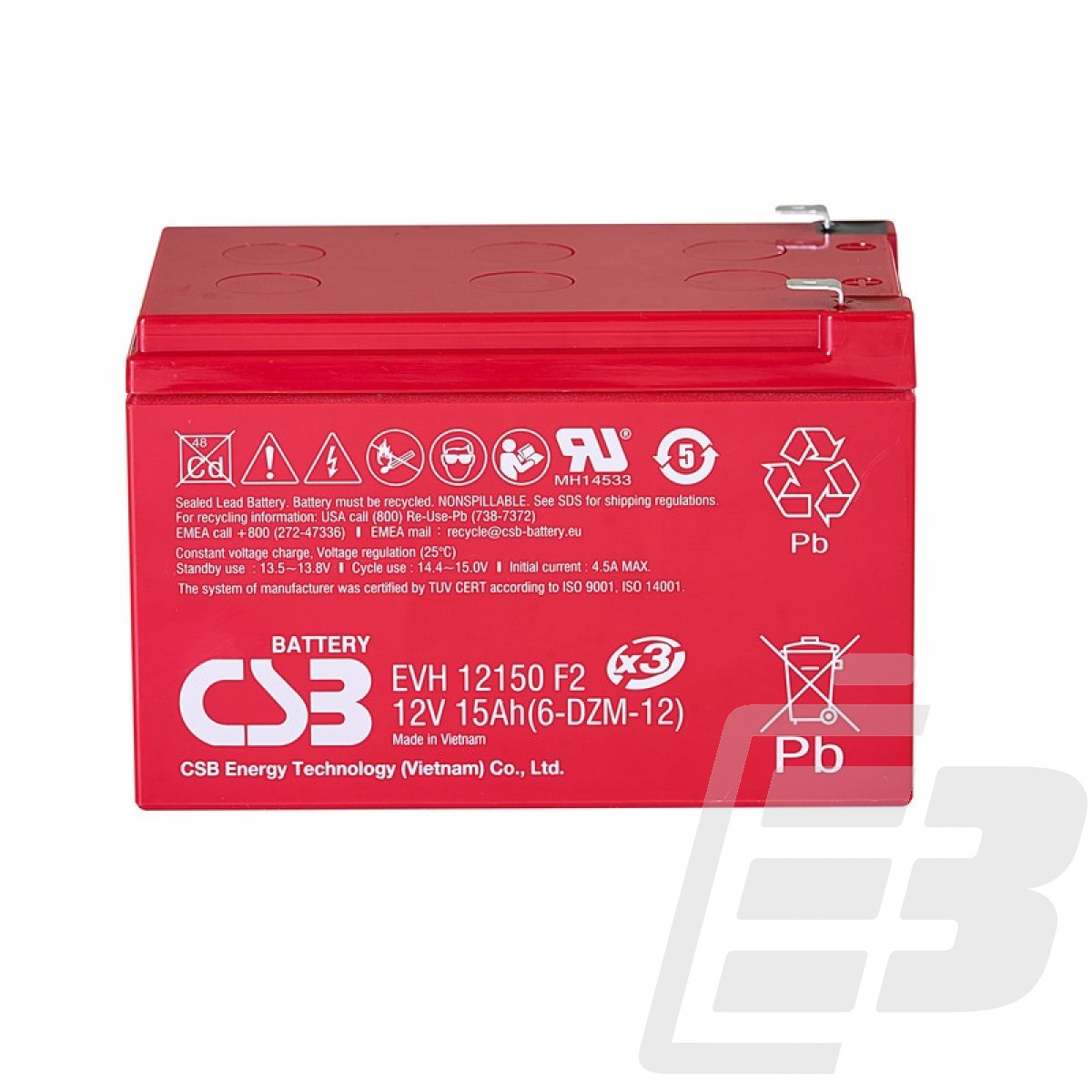 CSB Lead Acid Battery EVH12150