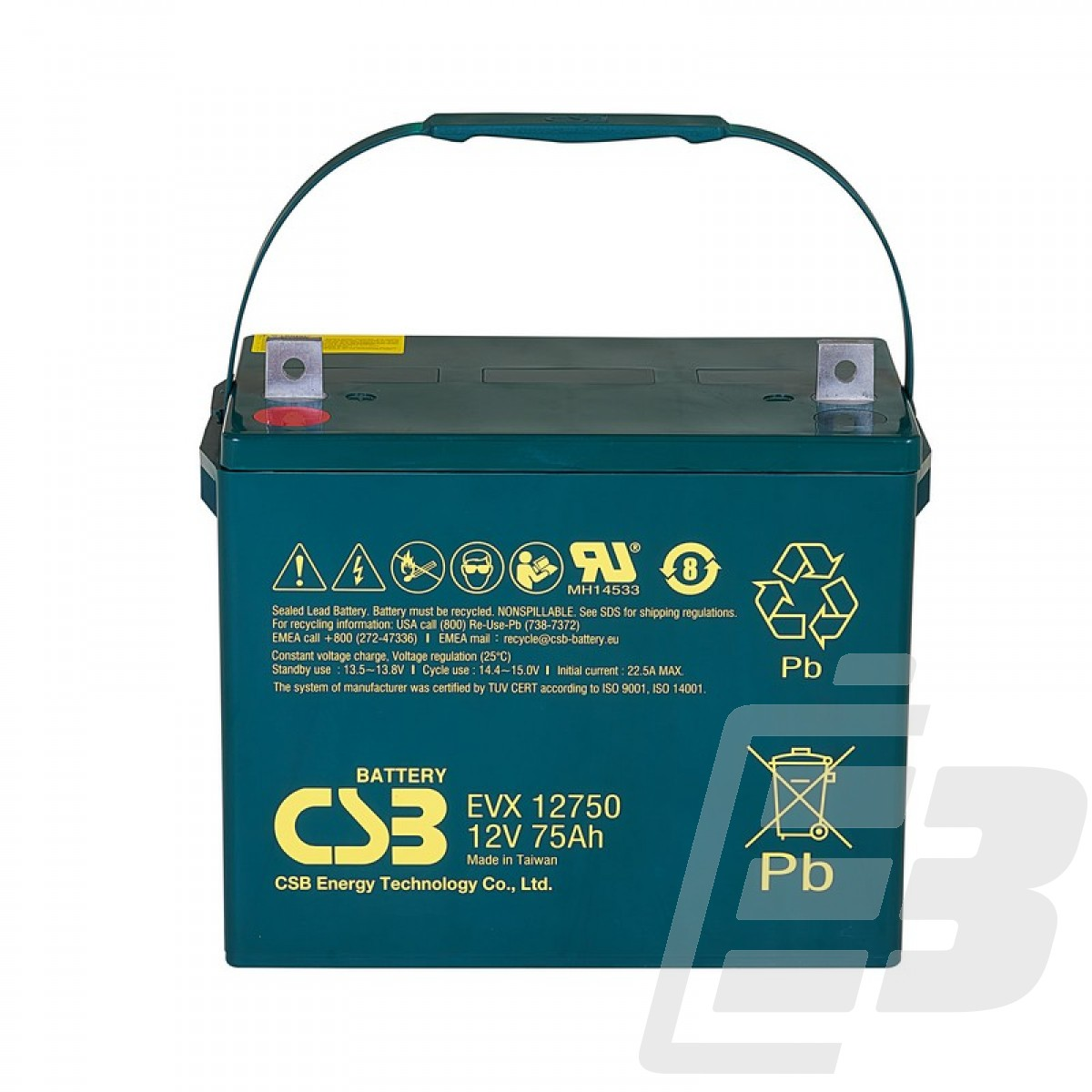 CSB Lead Acid Battery EVX12750 1