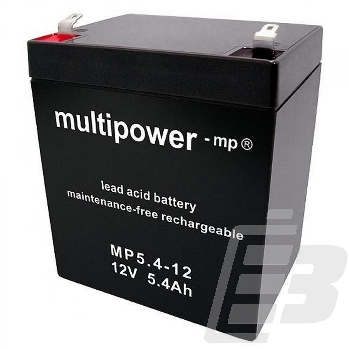 multipower lead acid battery 12v 5 4ah. Black Bedroom Furniture Sets. Home Design Ideas