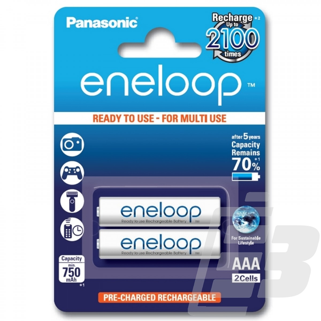 Eneloop AAA PreCharged Battery 750mah 1