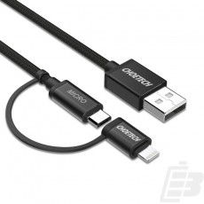 Choetech 2 in 1 USB Cable with Lighting & Micro USB Connector 1