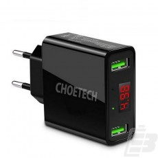 Choetech C0028 LED Indicator Wall Adapter 2 x USB