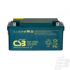 CSB Lead Acid Battery EVX12650 1