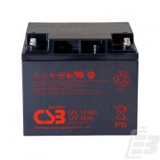 CSB Lead Acid Battery GPL12400 12V 40Ah