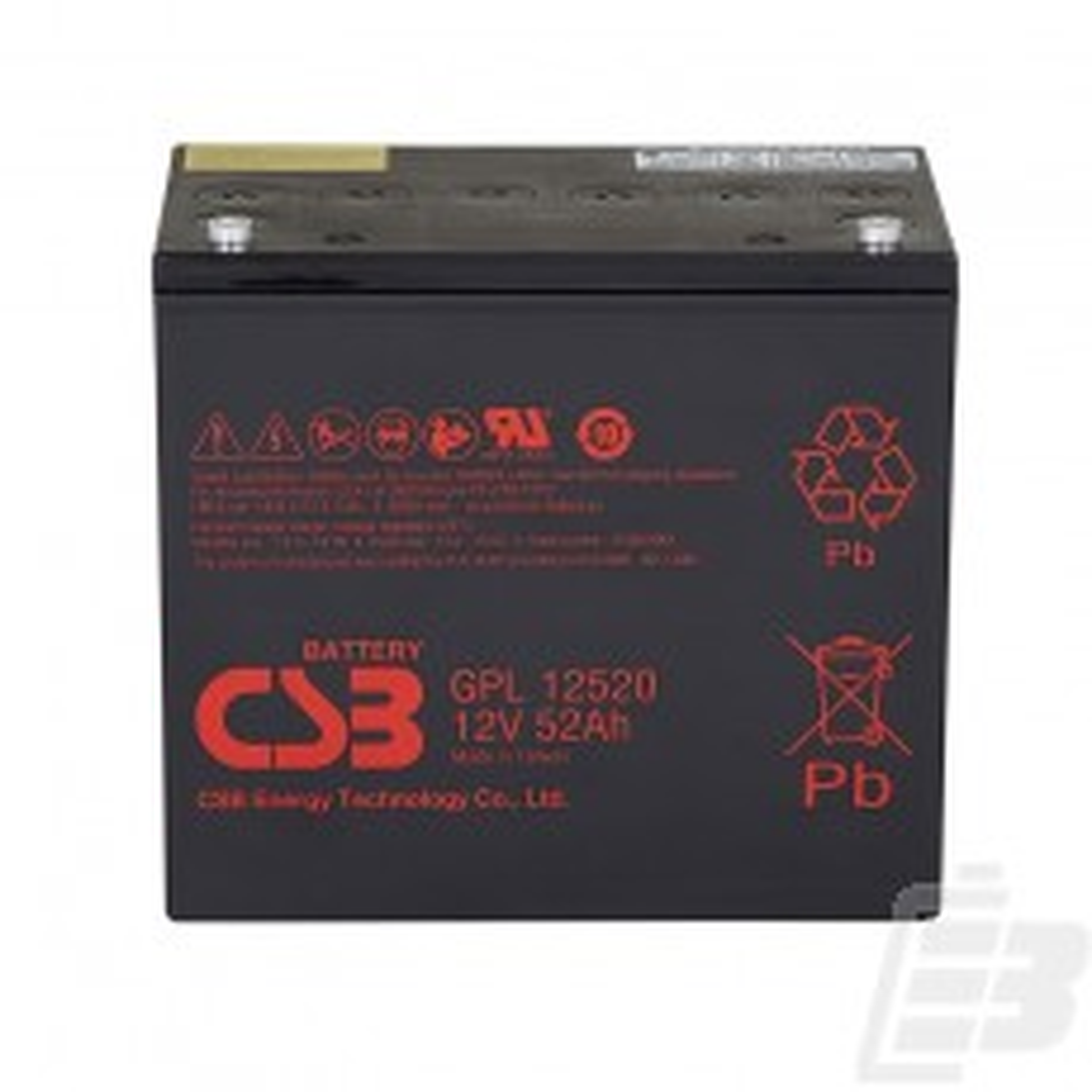 CSB Lead Acid Battery GPL12520 12V 52Ah