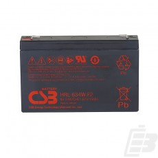 CSB Lead Acid Battery HRL634W 6V 9Ah