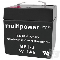 Multipower Lead Acid Battery 6V 1Ah