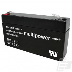 Multipower Lead Acid Battery 6V 1.2Ah