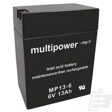 Multipower Lead Acid Battery 6V 13Ah