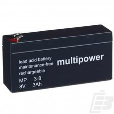 Multipower Lead Acid Battery 8V 3Ah