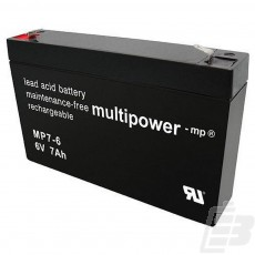 Multipower Lead Acid Battery 6V 7Ah