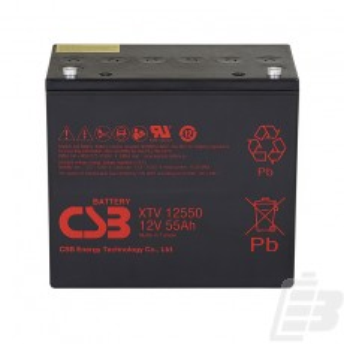 CSB Lead Acid Battery XTV12550 12V 55Ah