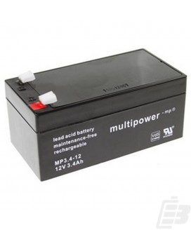 Multipower Lead Acid Battery 12V 3,4Ah