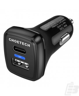 Choetech TC0005 USB-C Car Charger with Quick Charge 3.0 1