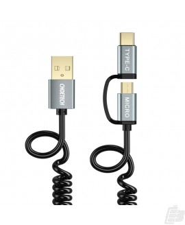 Choetech 2 in 1 USB-C and Micro USB-Cable Coiled