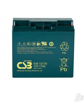 CSB Lead Acid Battery EVX12170 12v 17ah