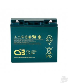 CSB Lead Acid Battery EVX12200 12v 20ah