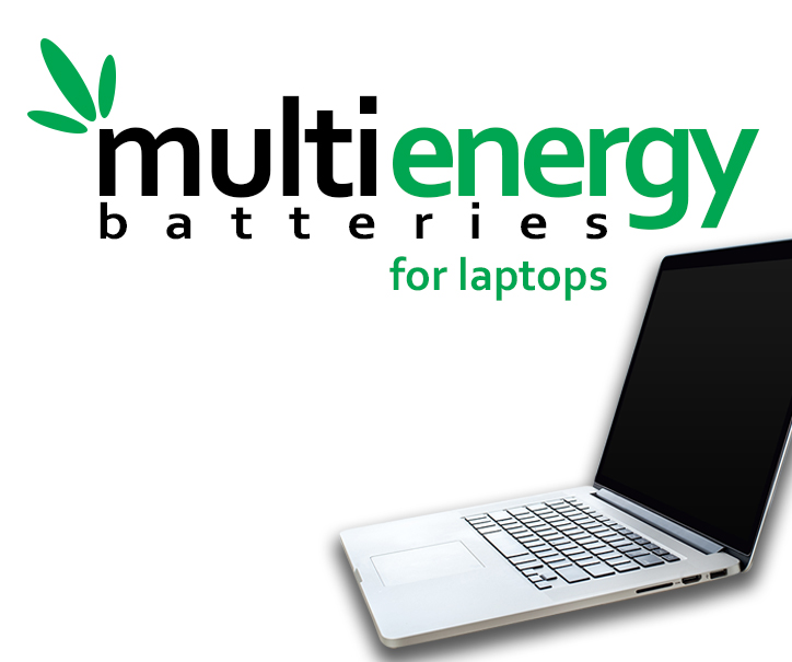 Laptops multienergy batteries