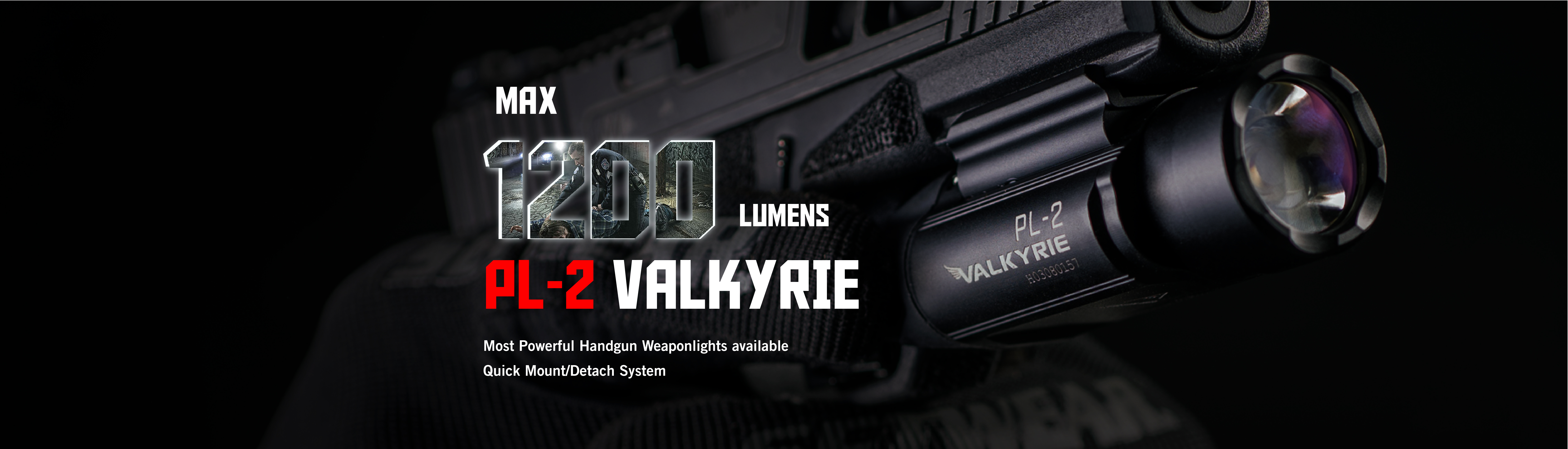 Olight PL2 Valkyrie LED weapon light 1200 Lumens