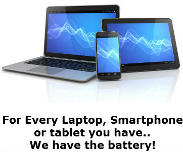 laptop smartphone tablet batteries