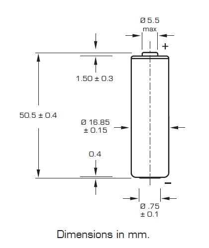 Saft LS 17500 lithium battery