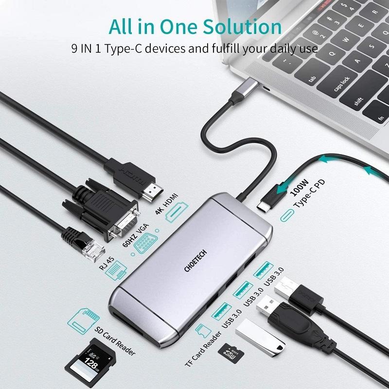 Choetech Hub M15 multiport Adapter