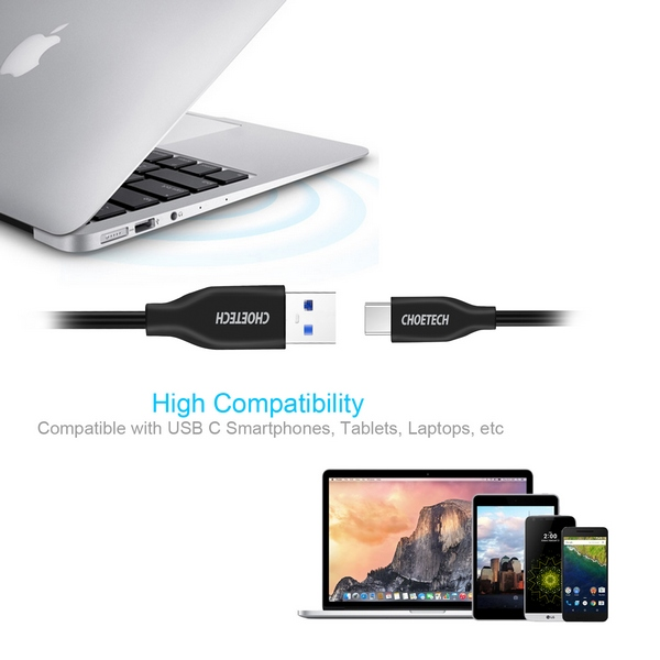 Choetech USB 3.0 to Type - C cable