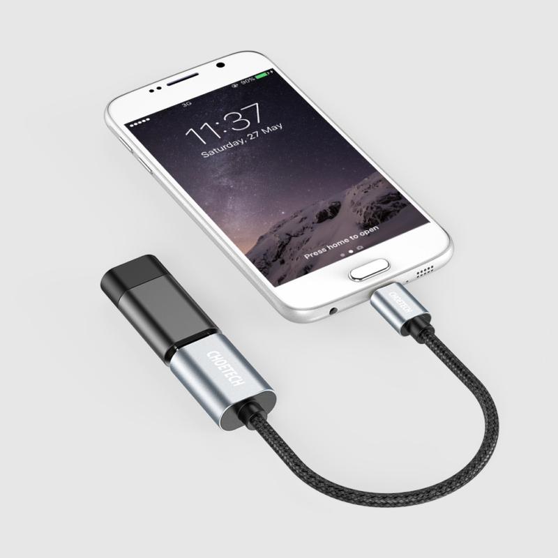 Choetech AB0013-BK Micro USB OTG Cable 0.2 meters