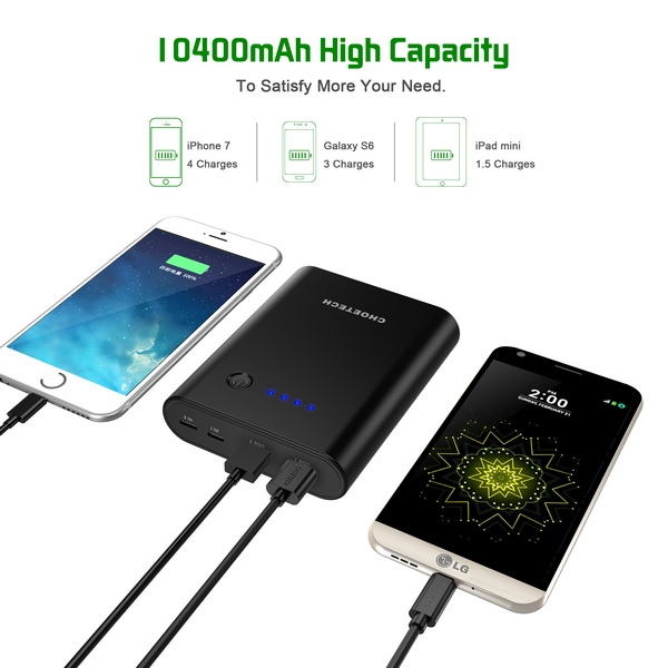 Choetech B617Q Quick Charge 3.0 powerbank 10400 mAh