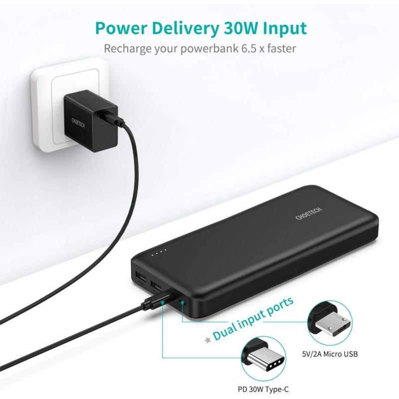 Choetech B626 20000 mAh USB-C PD Powerbank