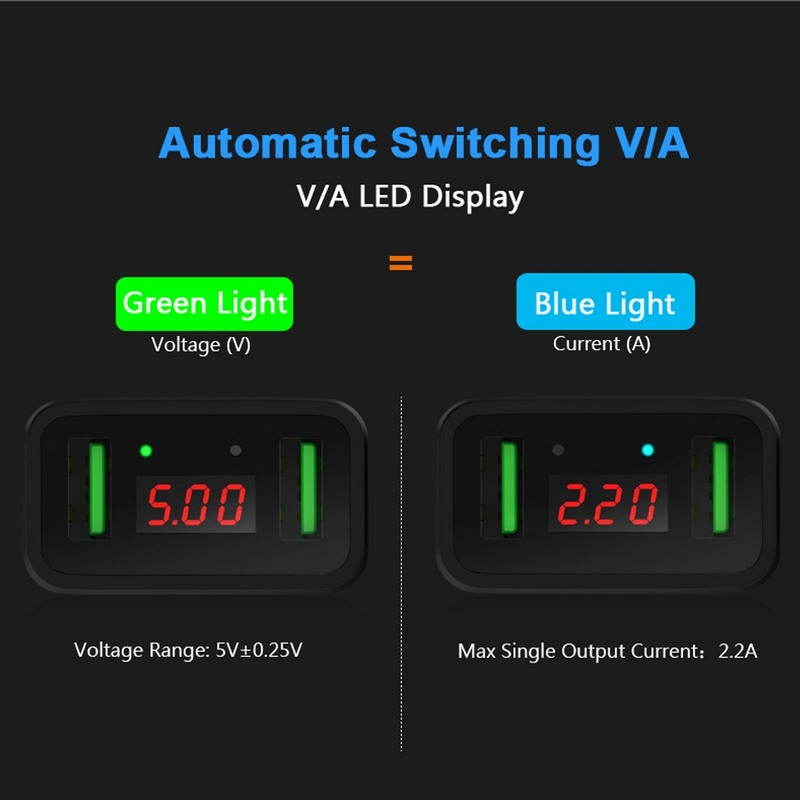 Choetech C0027 LED Indicator Wall Adapter 3 x USB