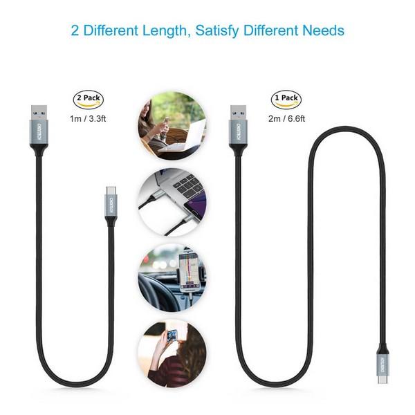 Choetech USB-C To USB 3.0 Cable Braided Nylon