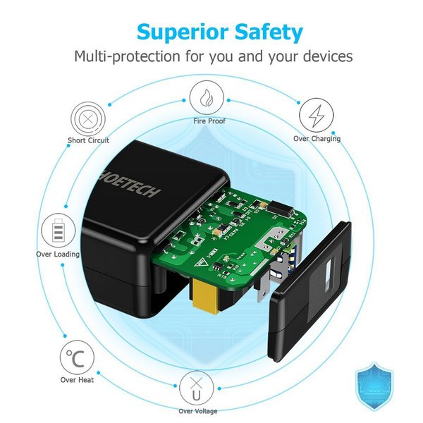 Choetech Q3002 QC 3 fast USB wall adapter