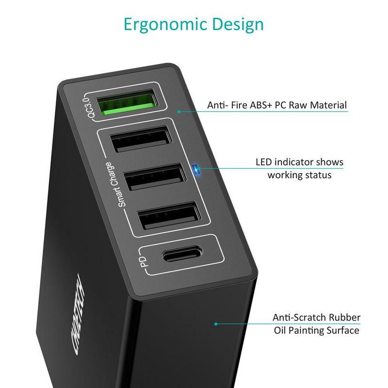 Q34U2Q 5 Ports fast charger