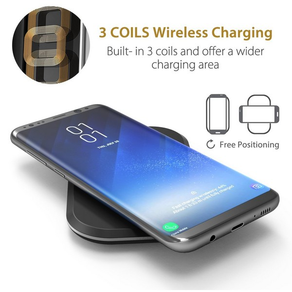 Choetech T513 3 Coils Qi Wireless Charging Pad