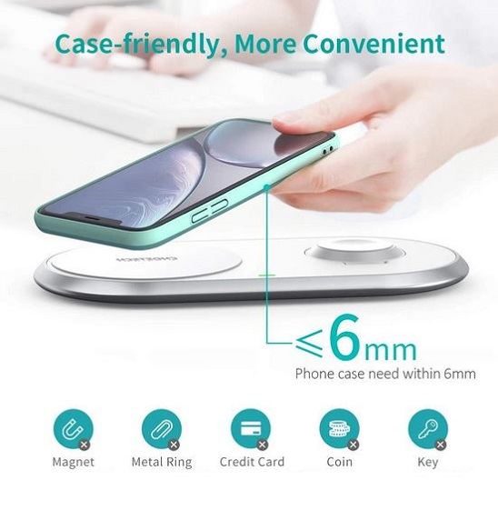 Choetech T517 2in1 wireless charger