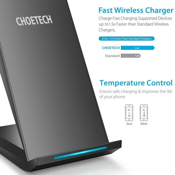 Choetech T520 QI fast Wireless Charger