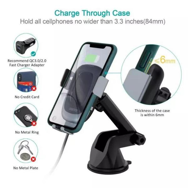 Choetech T542S Fast wireless car charger