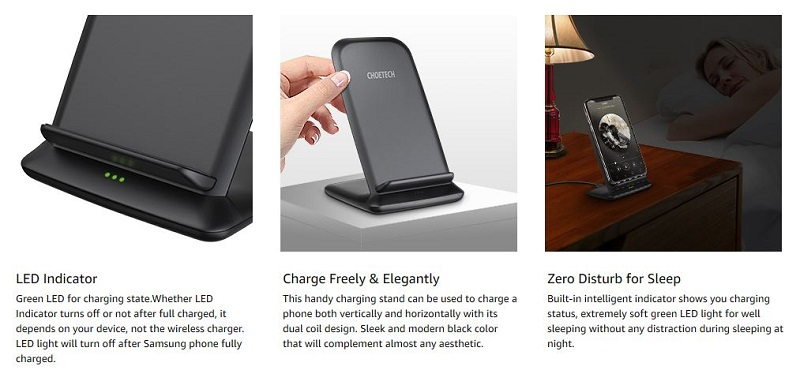 Choetech T555F Fast wireless charging Stand