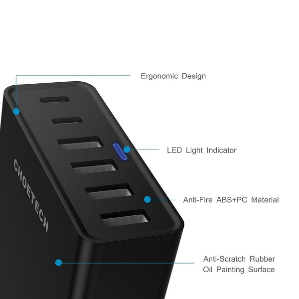 Choetech TC42C USB Multi-Port Charger