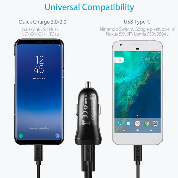 Choetech TC0005 USB-C Car Charger QC 3