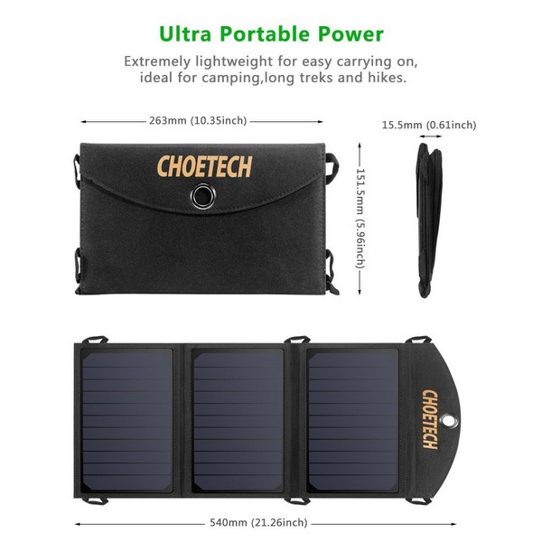 Choetech SC001 Foldable Solar Charger